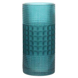 Купить Ваза РЕМЕКО 748903 12*12*25 см цвет бирюзовый