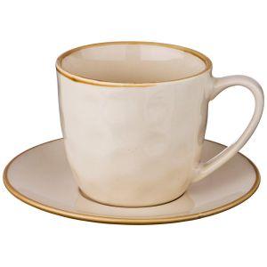 Купить Чайная пара Арти М 408-125 на 1 персону (2 предмета) Concerto цвет кремовый