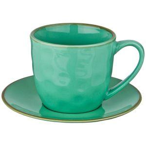 Купить Чайная пара Арти М 408-128 на 1 персону (2 предмета) Concerto цвет тиффани