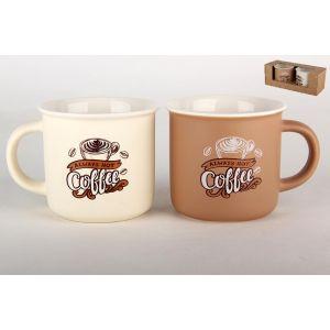 Купить Чайный набор КОРАЛЛ BRJD004-124110 Горячий кофе цвет белый/бежевый