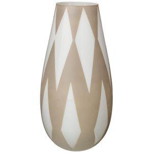 Купить Ваза Арти М 316-1468 Rombi grey 37 см цвет бежевый/белый
