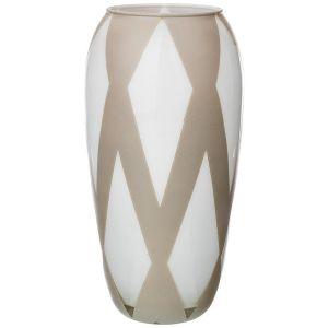 Купить Ваза Арти М 316-1469 Rombi grey 26 см цвет бежевый/белый