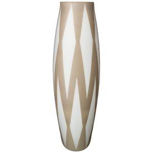 Купить Ваза Арти М 316-1470 Rombi grey 70 см цвет бежевый/белый