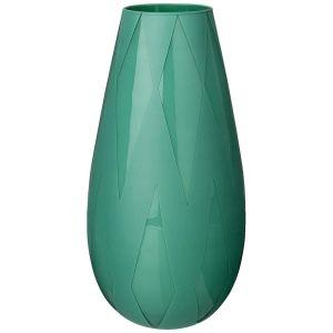 Купить Ваза Арти М 316-1473 Rombi green 37 см цвет бирюзовый