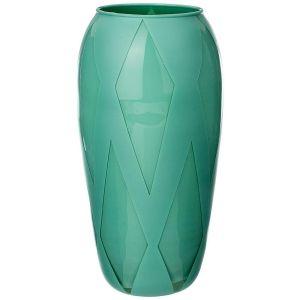 Купить Ваза Арти М 316-1474 Rombi green 26 см цвет бирюзовый
