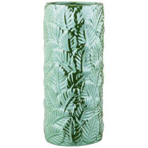 Купить Ваза Арти М 489-111 Тропики 11,5*11,5*25,3 см цвет зелёный