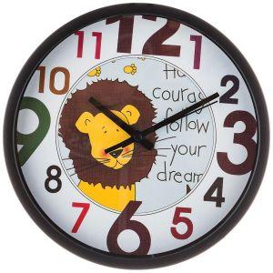 Купить Настенные часы Арти М 220-380 Лев 20 см цвет белый/коричневый/жёлтый