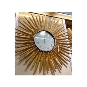 Купить Настенные часы Русские подарки 61804 Солнце 70 см цвет белый/золотой