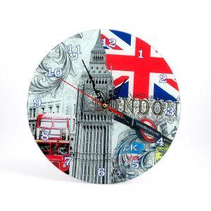 Купить Настенные часы Русские подарки 78925 Лондон 30 см цвет мультиколор