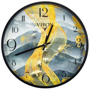 Купить Настенные часы Русские подарки 89808 Viron 30 см цвет желтый/серый