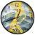 Настенные часы Русские подарки 89808 Viron 30 см цвет желтый/серый желтый/серый