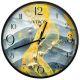 Настенные часы Русские подарки 89808 Viron 30 см цвет желтый/серый