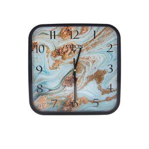 Купить Настенные часы Русские подарки 89817 Viron 30*30 см цвет голубой/золото