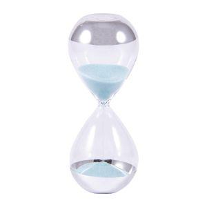 Купить Песочные часы Русские подарки 140818 5 мин 13 см цвет прозрачный/серебро/голубой