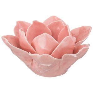 Купить Подсвечник Арти М 146-1289 Лотос 13*13*7 см цвет розовый