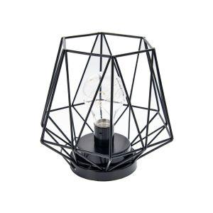 Купить Подсвечник Русские подарки 87119 Геометрия с LED подсветкой 18*11 см цвет чёрный