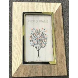 Купить Фоторамка Русские подарки 33774 для фото 10*15 см 17*1*2 см цвет дерево/бежевый