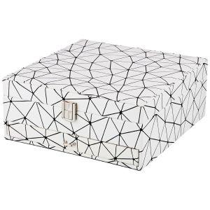 Купить Шкатулка Арти М 362-117 24,25*24,5*10,5 см цвет белый/черный