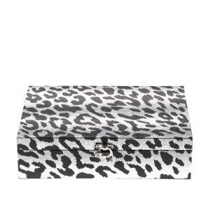 Купить Шкатулка РЕМЕКО 266340 26*18*7 см цвет белый/черный
