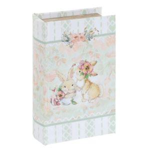 Купить Шкатулка-книга РЕМЕКО 748677 11*5*17 см цвет белый/мятный