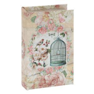 Купить Шкатулка-книга РЕМЕКО 748682 11*5*17 см цвет бежевый/розовый