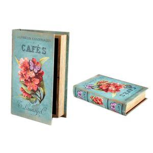 Купить Шкатулка-книга Русские подарки 184360 Букет 24*16*5 см цвет бирюза/розовый