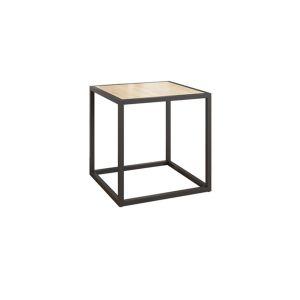 Купить Стеллаж Мебельсон Куб 1 цвет черный муар/дуб сонома
