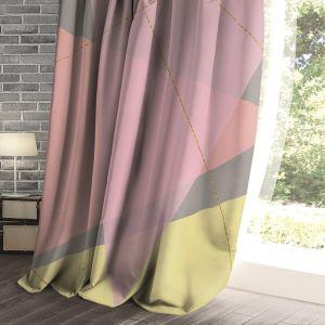 Купить Шторы Праймтекс ВН 150*270 ДТ147 Ш0177/1 42 Л Unique Blackout цвет розовый/серый/жёлтый