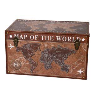 Купить Сундук Русские подарки 47147 Карта мира 59*36*32 см
