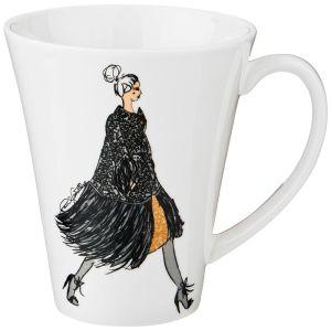 Купить Кружка Арти М 359-581 Fashion queen 400 мл цвет белый/серый/чёрный
