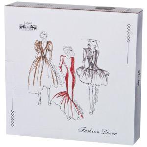 Купить Набор тарелок Арти М 359-592 (2 предмета) Fashion queen 25,5 см цвет белый/серый/чёрный