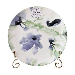 Купить Тарелка закусочная Арти М 410-103 Aquarelle 20,5 см цвет белый/голубой/мятный