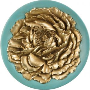 Купить Панно Арти М 251-341 27*27*4,5 см цвет бирюза/золото