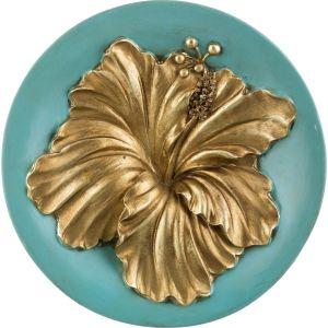 Купить Панно Арти М 251-343 27*27*4,5 см цвет бирюза/золото