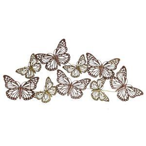 Купить Панно РЕМЕКО 265862 Бабочки 116*4*54 см цвет золото