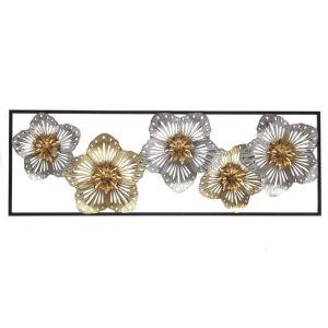 Купить Панно РЕМЕКО 726932 Цветы 31*4*90 см цвет золото/серебро