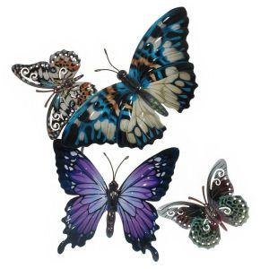 Купить Панно РЕМЕКО 751154 Бабочки 39*4*52 см цвет мультиколор