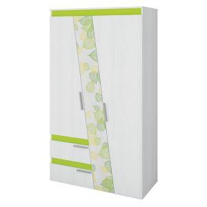 Купить Шкаф Аквилон ШК2.3 Эко цвет рамух белый/лайм