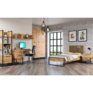 Купить Кровать АСМ-Модуль АСМ-Гранд  кровать 900 с основанием Дуб Вотан цвет дуб вотан