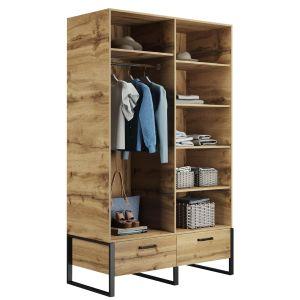 Купить Шкаф АСМ-Модуль АСМ-Гранд шкаф для одежды Дуб Вотан цвет дуб вотан