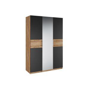 Купить Шкаф АСМ-Модуль ШК3 с зеркалом Рамона цвет кельтский дуб/черный