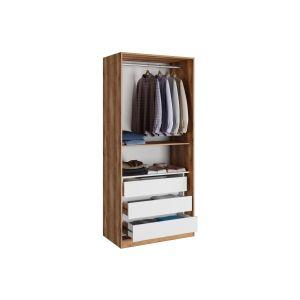 Купить Комод АСМ-Модуль для шкафа Рамона цвет кельтский дуб/черный