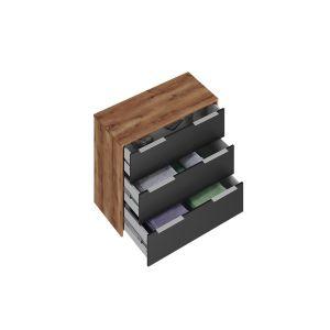 Купить Комод АСМ-Модуль К3 Рамона цвет кельтский дуб/черный