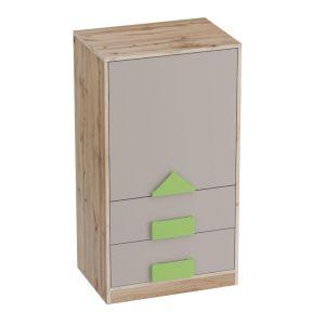 Купить Тумба МебельГрад ТБ1 с дверцей и ящиками Марио цвет дуб вотан