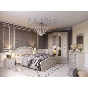Купить Спальный гарнитур МебельГрад Николь цвет ясень жемчужный/ваниль