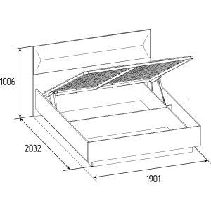 Купить Кровать ГМФ К306 Люкс с подъемным механизмом 180*200 Neo цвет дуб табачный craft