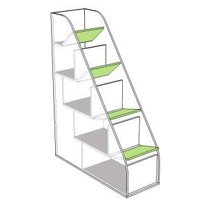 Купить Лестница для кровати Аквилон КЛ19 Эко цвет рамух белый/лайм