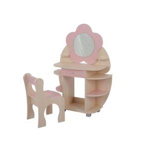 Купить Комплект детской мебели Мебельсон Ромашка цвет дуб млечный/розовый
