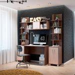 Стол письменный Комфорт-S M17 Доминик New цвет шимо темный/шимо светлый
