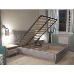 Кровать Комфорт-S М1 Генриетта 160*200 с подъемным механизмом цвет дуб баррик/темпо 10